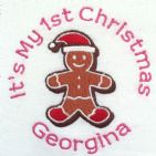 It's My 1st Christmas Gingerbread Man T-Shirt 0-6 yrs